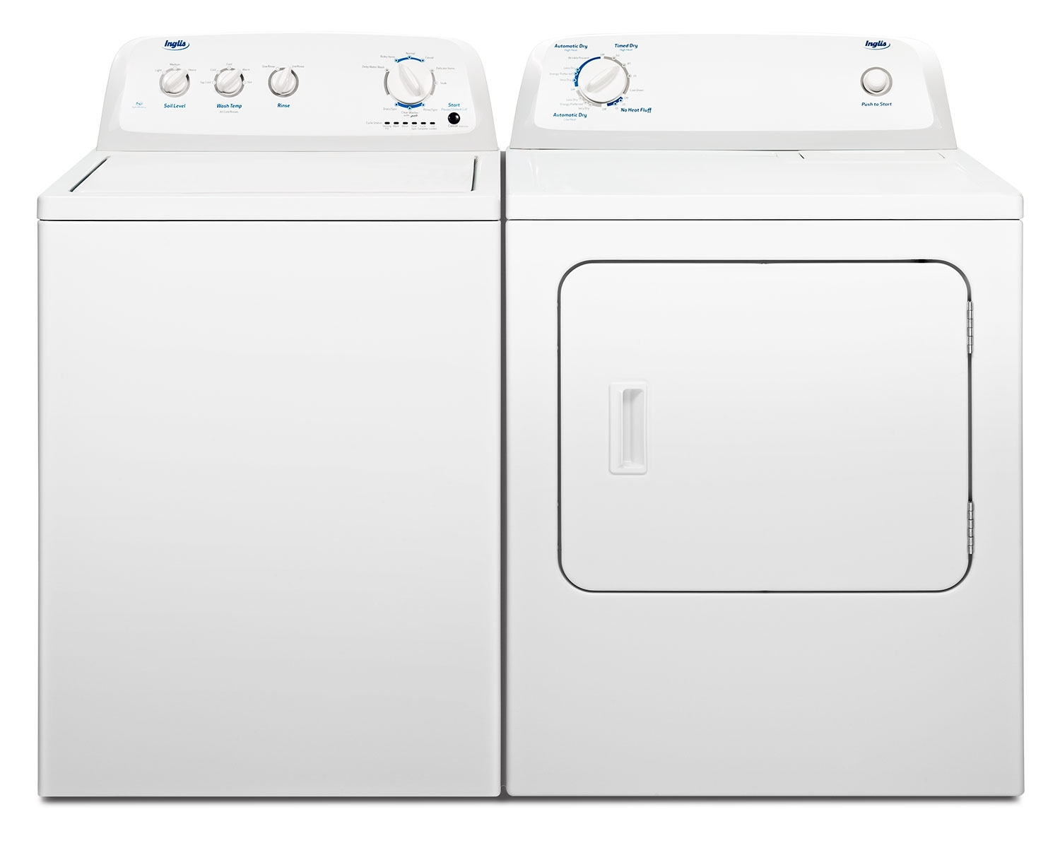High Efficiency Washers And Dryers Inglis 41 High Efficiency Washer And 65 Cu Ft Dryer Freedom