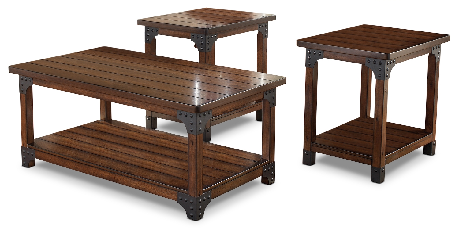 Murphy Coffee Table.Murphy 3 Piece Coffee And Two End Tables Package