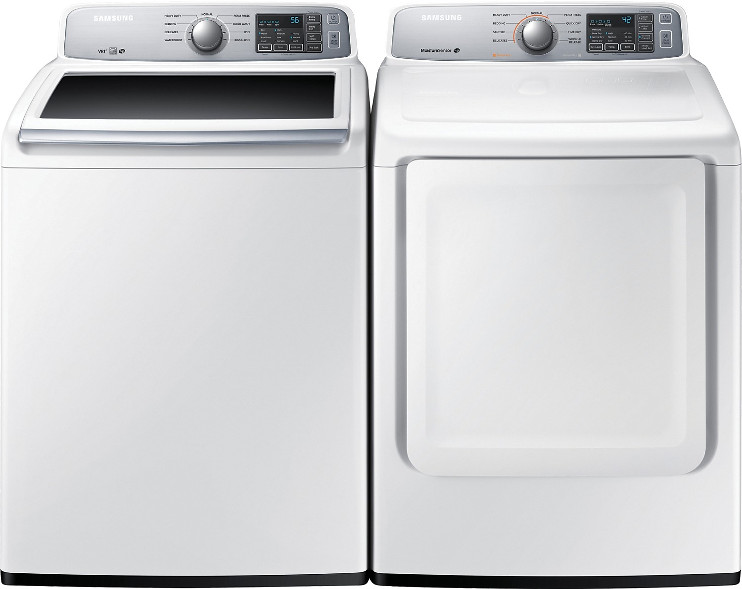 samsung top load washer samsung 5 2 cu ft top load washer and 7 4 cu ft 30987